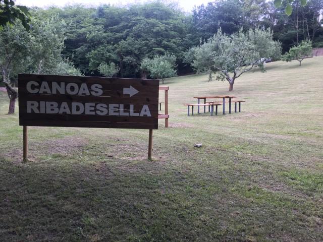 Zona exclusiva para clientes de Canoas Ribadesella