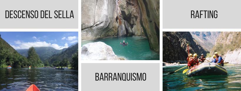Descenso del Sella, Barranquismo y Rafting