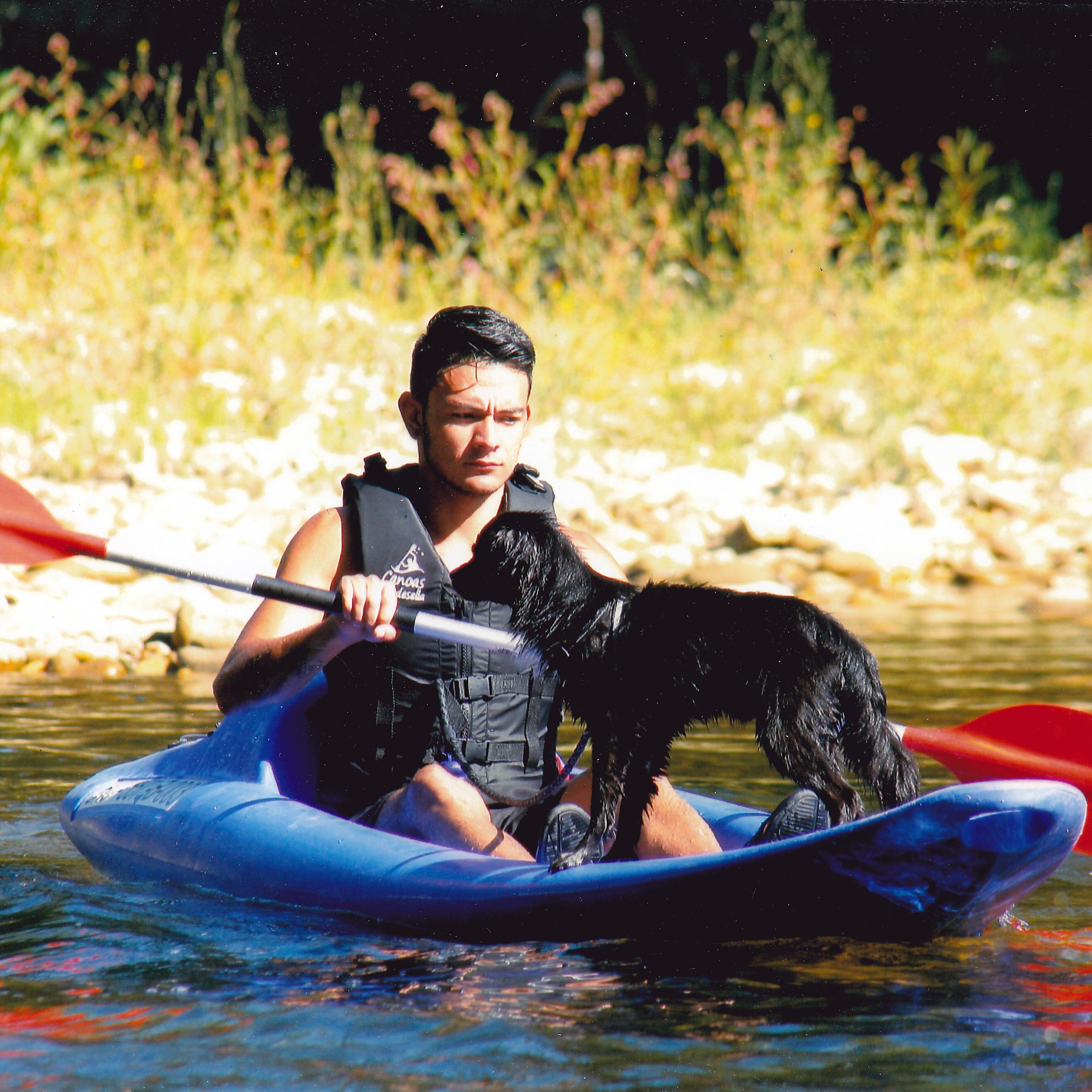 Descenso del Sella con perro