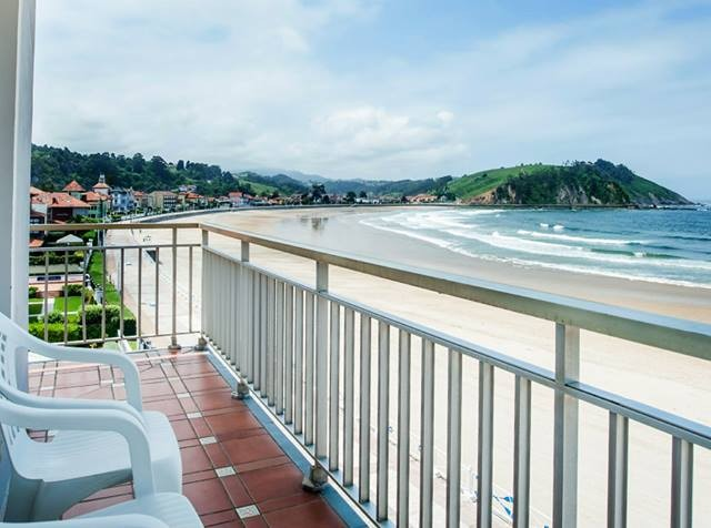 Foto tomada desde la terraza en una de las habitaciones con vistas a la playa